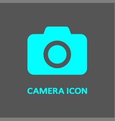 colorful camera logo camera symbol for web app vector image