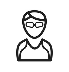 Cool girl with shades vector