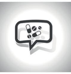 Curved medicine message icon vector