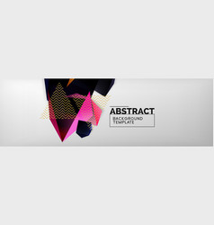 dark 3d triangular low poly shapes abstract vector image