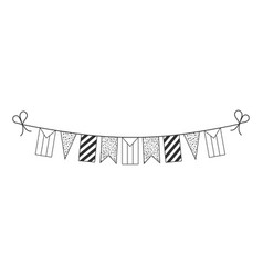 Decorations bunting flags for palestine or sudan vector