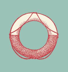Decorative capital letter o marine ancient style vector