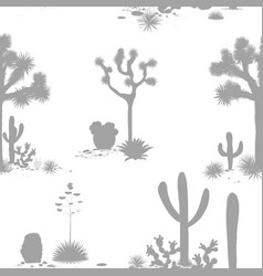 desert seamless pattern with silhouettes of joshua vector image