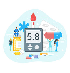 Diabetes treatment concept vector