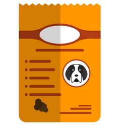 dog food bag isolated on white background vector image