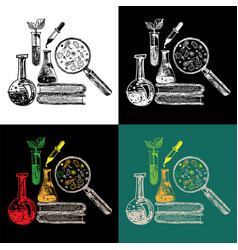 educational and laboratory equipment composition vector image
