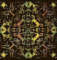 Egyptian hieroglyphs seamless pattern ethnic vector