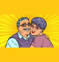 Elderly couple in love grandparents vector