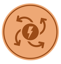 electric generator bronze coin vector image