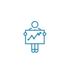 financial analytics linear icon concept financial vector image
