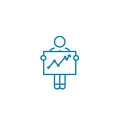 financial analytics linear icon concept financial vector image