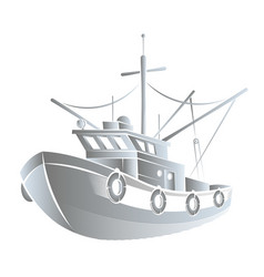 Fishing boat concept vector