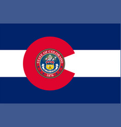 Flag of colorado in united states vector