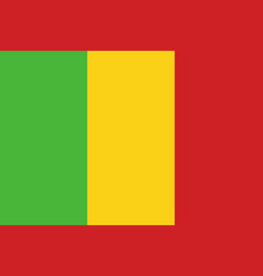 Flag of mali in official rate and colors vector