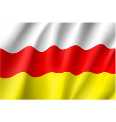flag of south ossetia vector image