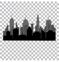 flat cityscape monochrome design concept vector image