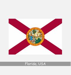 Florida usa state flag fl usa vector