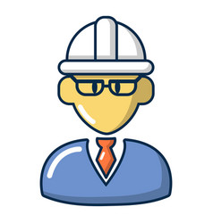 Foreman icon cartoon style vector