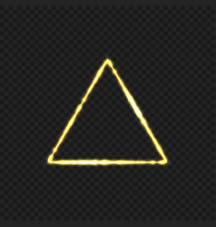golden fire triangular vector image