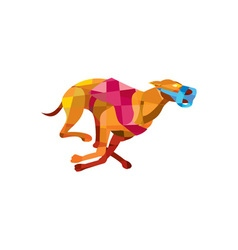 Greyhound Dog Racing Low Polygon vector