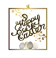 Hand lettering easter greetings card vector