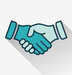Handshake flat style icon vector