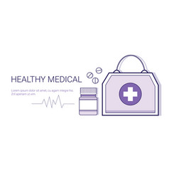 healthy medical online doctor mobile application vector image