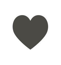 heart icon like love symbol trendy flat vector image