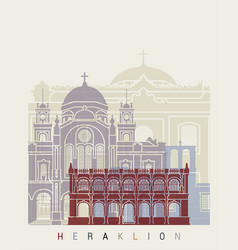 Heraklion skyline poster vector