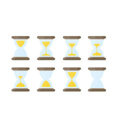 hourglass sprites for animation vector image