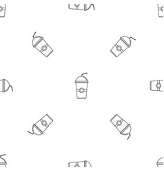 kiwi smoothie pattern seamless vector image