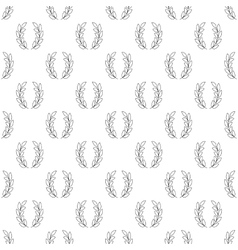 Laurel wreath pattern seamless vector