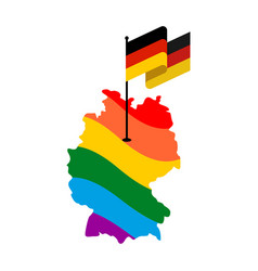 lgbt germany map of deutschland and flag european vector image