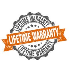 Lifetime warranty stamp sign seal vector