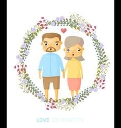 Love generation greeting card 3 vector image