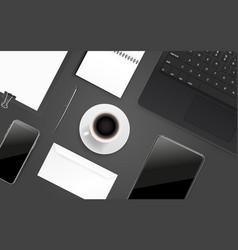 Office supplies different business stuff vector