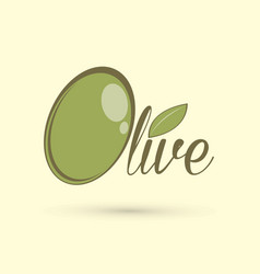 Olive text design graphic vector