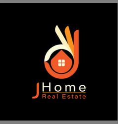 perfect house finger logo template design vector image