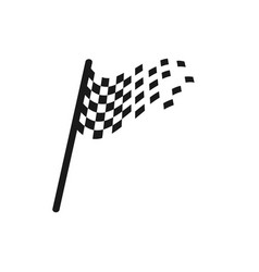 racing flag graphic design template vector image