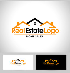 Real estate design house vector