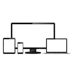 Responsive web design display laptop tablet phone vector