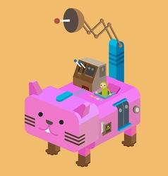 Robot Cat vector