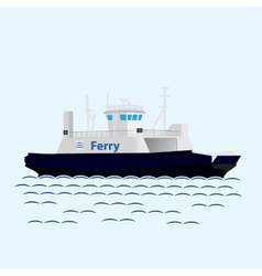 Sea train ferry boat Big ship vector