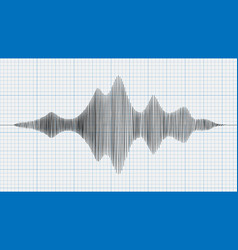 Seismograph diagram graph of earthquake on paper vector