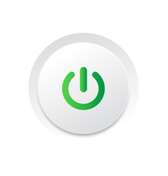 simple circle play ui switch button vector image