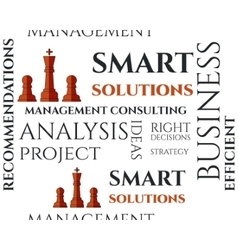 Smart solutions seamless pattern with management vector image