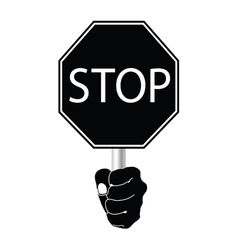 stop sign in black vector image