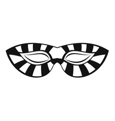 Stripped carnival mask icon simple style vector