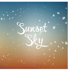 Sunset sky vector