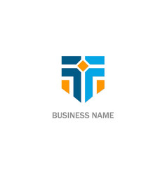 t initial business logo vector image